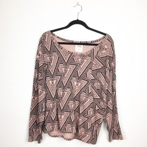 Volcom Recycled Cotton Boho Long Sleeve Top M